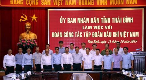 Đại diện PV Gas làm việc với đại diện tỉnh Thái Bình.
