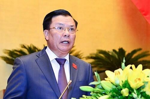 Bộ trưởng Tài chính Đinh Tiến Dũng. Ảnh: Trung tâm báo chí Quốc hội