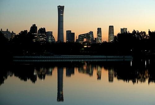 Khu quận kinh doanh trung tâm tại Bắc Kinh (Trung Quốc). Ảnh: Reuters