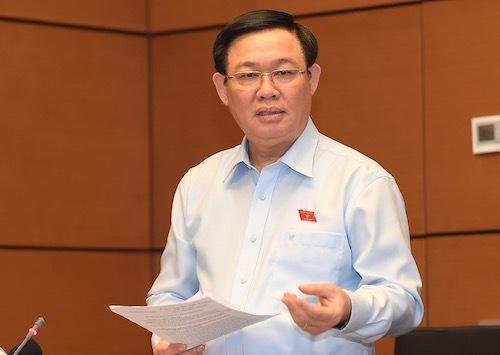 Phó thủ tướng Vương Đình Huệ tại họp tổ chiều 22/10. Ảnh: Tuấn Nguyễn