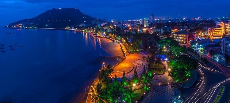 Quang cảnh biển Vũng Tàu về đêm.