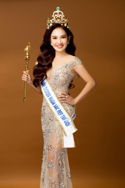 Doanh nhân Thái Phượng trở thành Tân Hoa hậu Doanh nhân Sắc đẹp thế giới 2019 với vương miện trị giá 2 tỷ đồng.