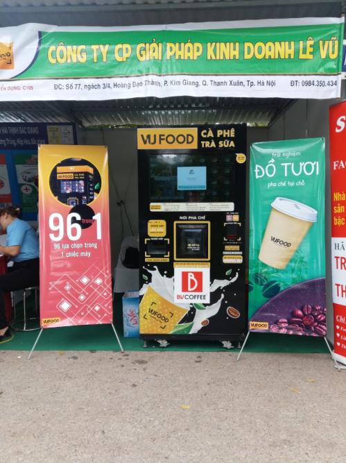 Máy bán hàng đồ uống tự động Vufood.