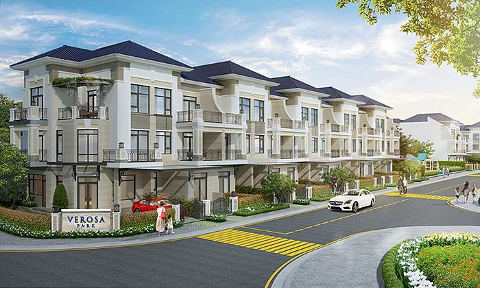 Verosa Park gồm 296 căn nhà liên kế và biệt thự quy mô 8,1ha.