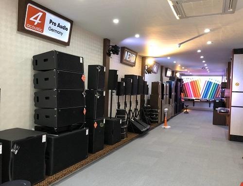 Showroom trưng bày sản phẩm của công ty Pro Sound.