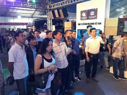 Hình ảnh sự kiện triển lãm âm thanh tại Hà Nội của Pro Sound năm 2018