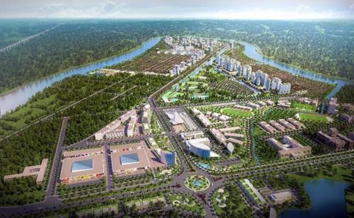 Phối cảnh quy hoạch tổng thể dự án thành phố bên sông Waterpoint.