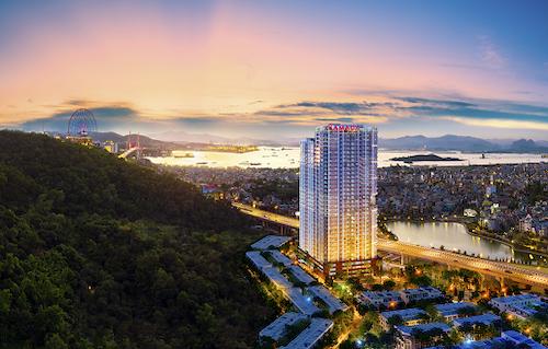 Phối cảnh minh họa tổng thể dự án Ramada Hotel & Suites Halong Bay View