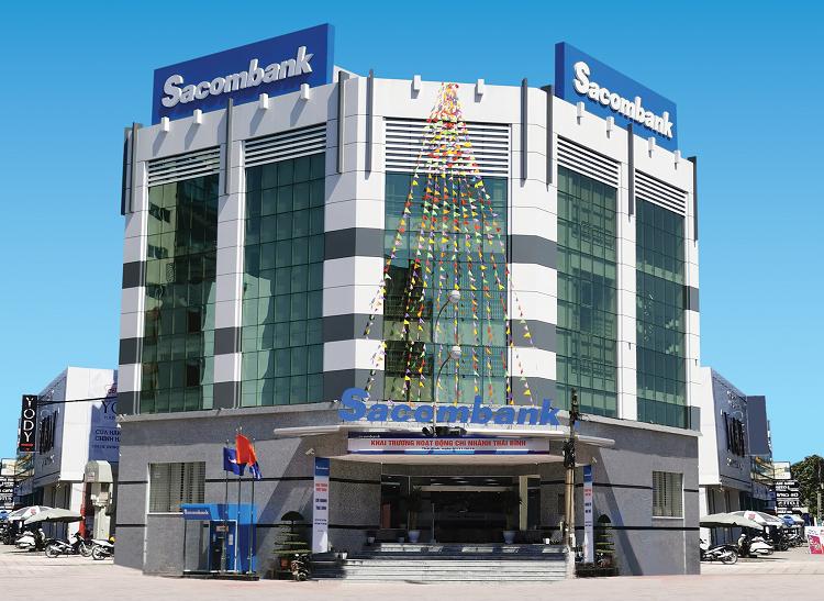 Trụ sở Sacombank chi nhánh Thái Bình.