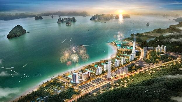 Dự án chạy dọc ven biển và nằm thoải theo độ cao của địa thế.