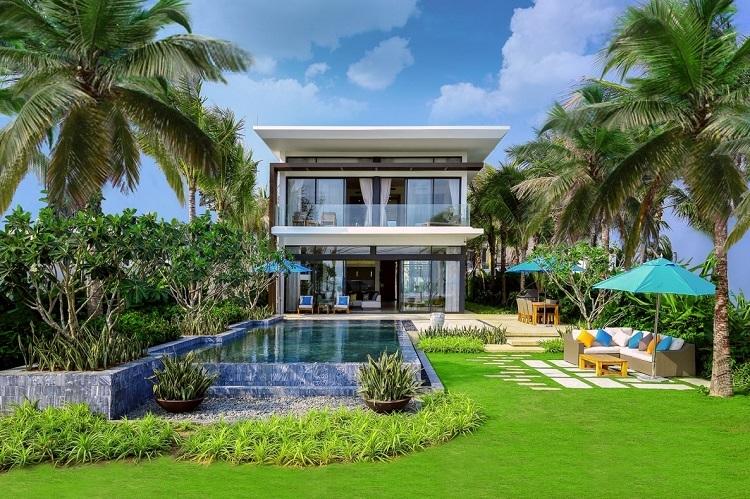 Ảnh thực tế biệt thự mặt tiền biển 4 phòng ngủ tại Melia Hồ Tràm Beach Resort.