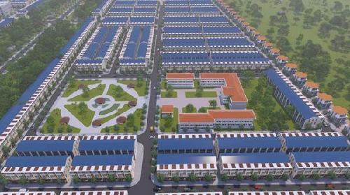 Dự án nằm tại vị trí cửa ngõ của khu đô thị Bàu Bàng, Bình Dương.