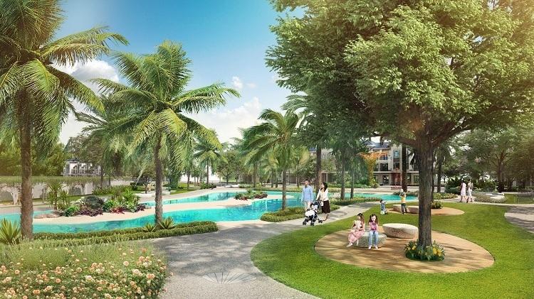 Verosa Park có quy mô 8,1ha với không gian xanh lên đến 1,6ha.