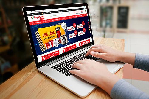 Giao diện website thương mại điện tử shop.nagakawa.com.vn.