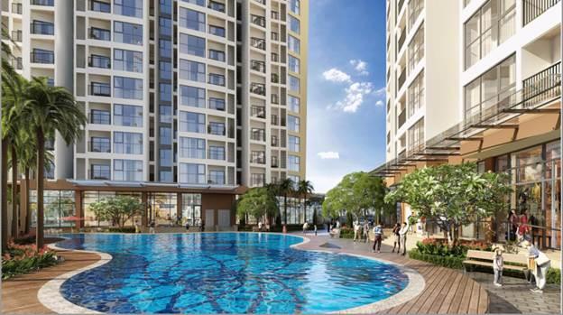 Bể bơi tại nội khu của dự án.
