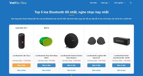 Các thông tin về sản phẩm ở nhiều ngành hàng được tổng hợp trên website.