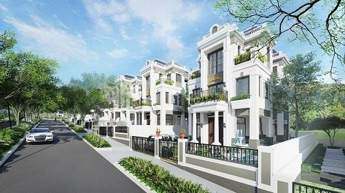Phối cảnh khu biệt thự nghỉ dưỡng tại dự án.