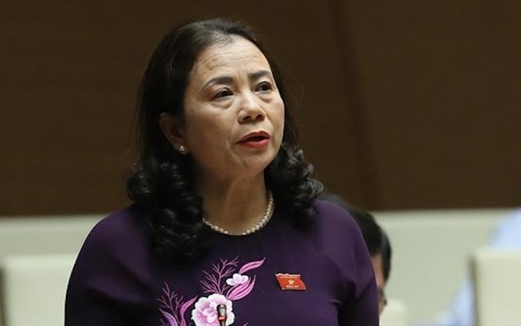 Bà Lê Thị Nguyệt - Phó chủ nghiệm Uỷ ban các vấn đề xã hội. Ảnh: Trung tâm báo chí Quốc hội