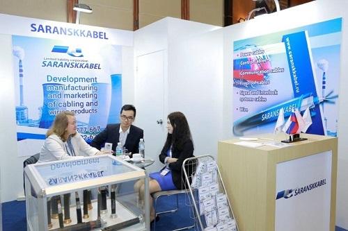 Một gian hàng tại Triển lãm quốc tế Việt - Nga năm.