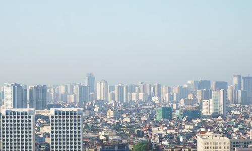 Một góc Hà Nội với rất nhiều tòa nhà chung cư, cao tầng. Ảnh: Anh Tú