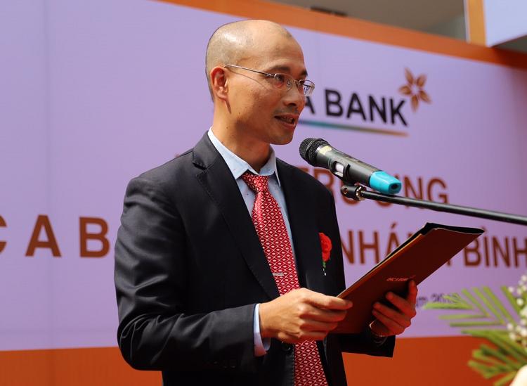 Ông Chu Nguyên Bình, Phó Tổng Giám đốc BAC A BANK BAC A BANK phát biểu khai mạc.