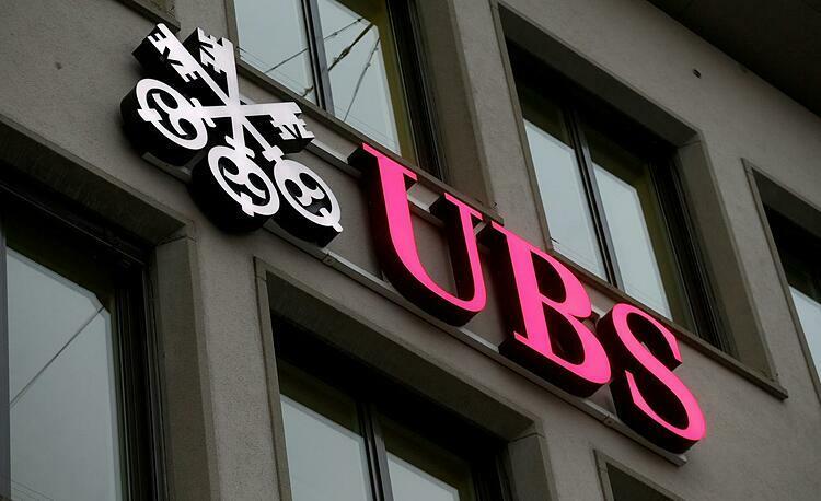 Logo UBS bên ngoài văn phòng tại Zurich (Thụy Sĩ). Ảnh: Reuters