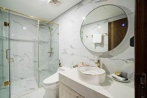 Thiết kết nội thất phòng tắm sang trọng.