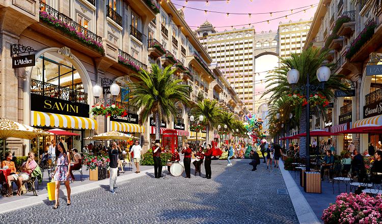 Phối cảnh sản phẩm Premium Shophouse mặt tiền phố đi bộ Royal Vạn Phúc, kênh đầu tư tiềm năng cho khách hàng.