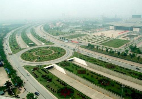 Đại lộ Thăng Longgóp phần kết nốiphía Tây và Tây Nam Hà Nội với các khu vực lân cận. Ảnh: Bá Đô.