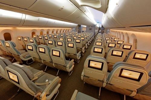 Khoang máy bay Royal Brunei Airlines mang đến sự thoải mái cho du khách suốt hành trình dài.(khách gửi lại ảnh chất lượng cao)