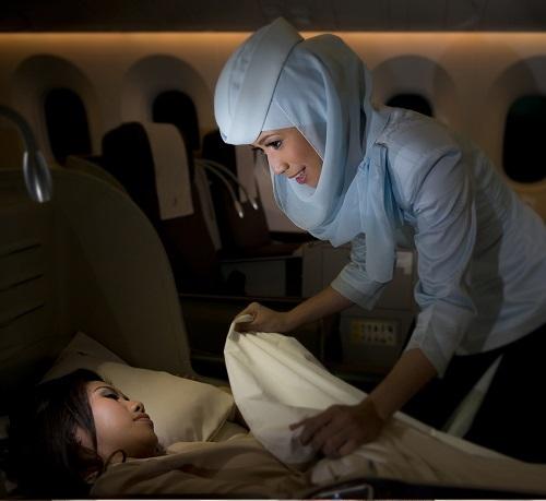 Royal Brunei Airlines đạt tiêu chuẩn 4 sao.(khách gửi lại ảnh chất lượng cao)
