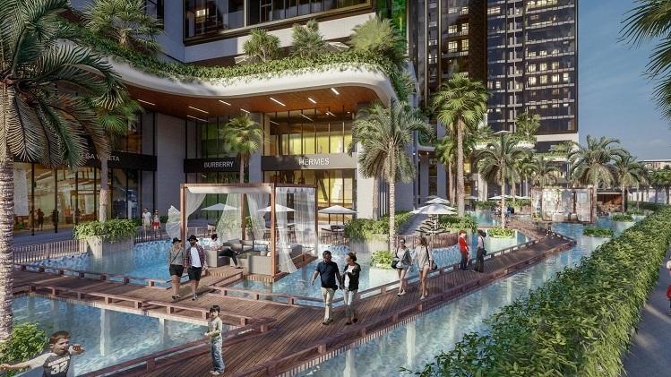 Tính đến thời điểm hiện tại, Sunshine City Sài Gòn là một trong những dự án sở hữu diện tích mặt nước lớn tại TP HCM. Với cách thiết kế này, không gian mặt nước rộng sẽ được bố trí sát tận thềm mỗi tòa tháp.
