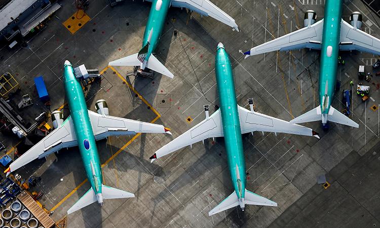 Những chiếc Boeing 737 Max bị cấm bay từ tháng 3 năm nay. Ảnh: Reuters