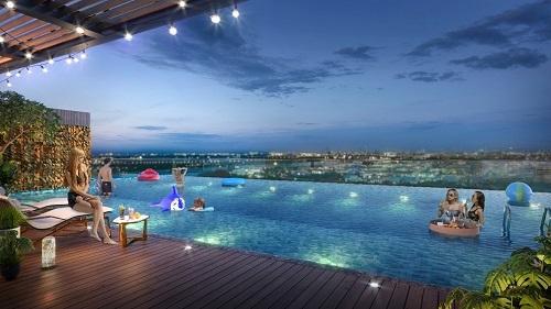 Các căn hộ biệt thự tại Panomax River Villa đều được trang bị hồ bơi riêng.