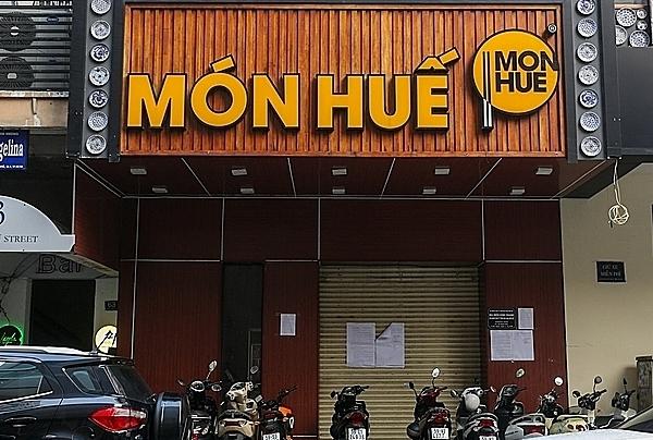 Nhà hàng Món Huế góc đường Đồng Khởi - Nguyễn Du (quận 1, TP HCM) đóng cửa mấy ngày nay. Ảnh: Quỳnh Trần