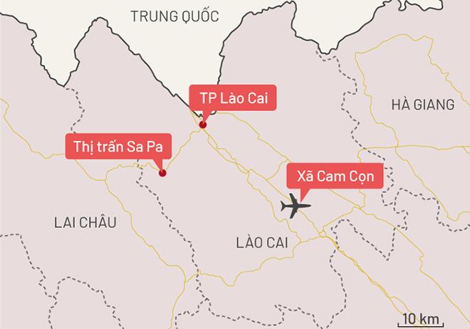 Sân bay Sapa sẽ được đặt tại xã Cam Cọn, huyện Bảo Yên. Đồ họa: Tiến Thành