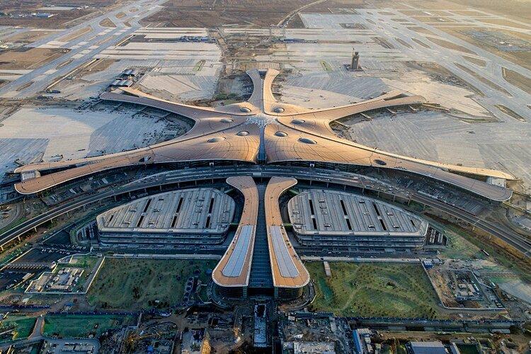 Sân bay Quốc tế Đại Hưng nhìn từ trên cao. Ảnh: AP