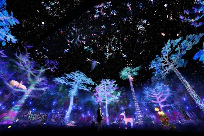 Khu rừng ánh sáng không chỉ có những hàng cây ánh sáng 7 màu, mà còn có các con vật như hươu, nai, sóc... tương tác với các cư dân nhí, đại diện tập đoàn cho biết. Ngoài ra, chủ đầu tư còn bố trí hệ thống chiếu sáng chủ đề thế giới thiên văn, giúp các em nhỏ sẽ học được cấu trúc và sự vận hành của hệ mặt trời, vũ trụ và thiên hà...