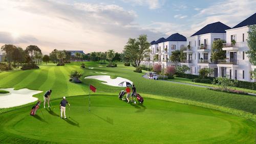 Các biệt thự tầm nhìn hướng ra sân golf tiêu chuẩn quốc tế.