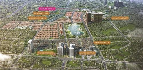 Khu đô thị Dương Nội nằm kế bên trung tâm thương mại Aeon Mall Hà Đông.