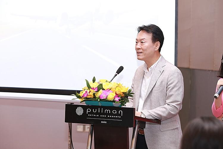 Ông Lee Sang Hoon - Đại diện hãng hàng không Air Seoul tại Việt Nam phát biểu tại sự kiện.