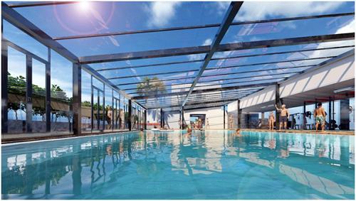 Bể bơi bốn mùa ion khoáng nóng đầu tiên tại Bắc Giang nằm tại Apec Aqua Park