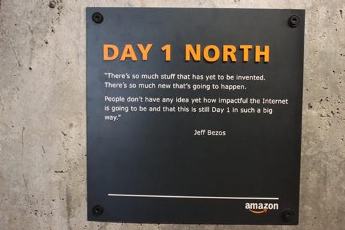 Bên trong toà nhà Day 1 của Amazon. Ảnh: Business Insider
