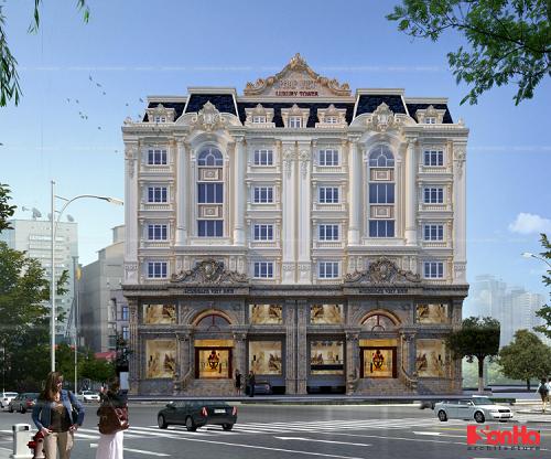Kiến trúctòa Pháp Việt Luxury Tower theo phong cách hoàng gia Pháp.(khách gửi lại ảnh ko logo)