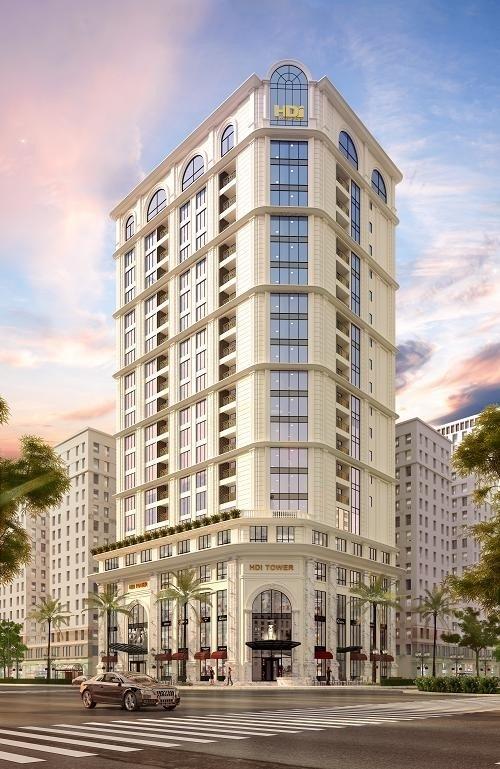 Quy mô HDI Tower bao gồm: 3 tầng hầm; 5 tầng TTTM và 14 tầng căn hộ cao cấp