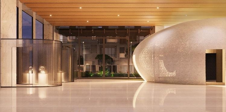 Không gian Kén by Lim Tower ngay tại sảnh đón của toà nhà.