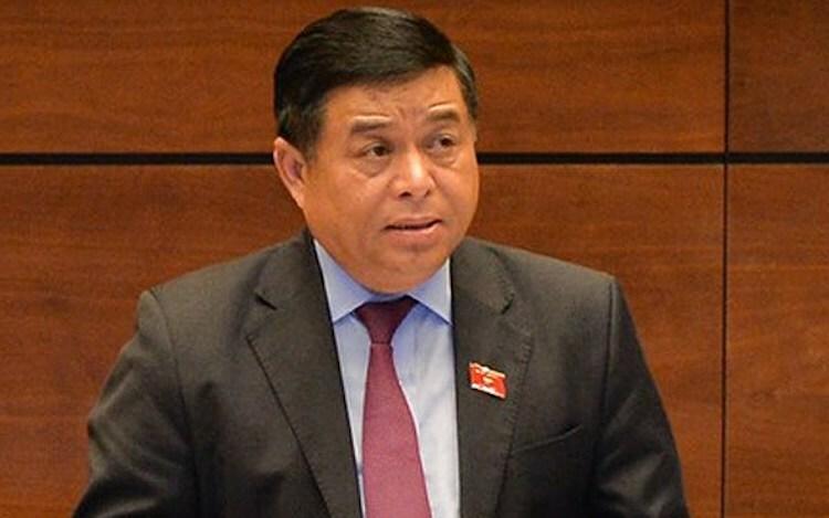 Ông Nguyễn Chí Dũng - Bộ trưởng Kế hoạch & Đầu tư giải trình trước Quốc hội ngày 19/11. Ảnh: Ngọc Thắng