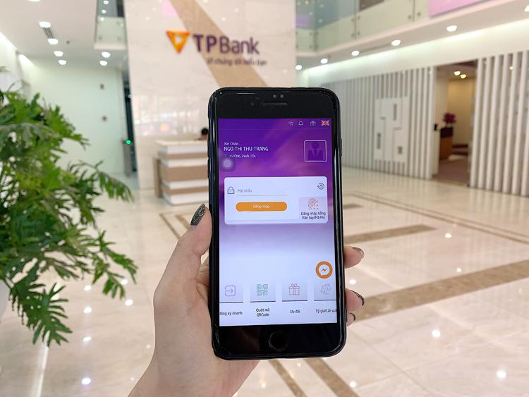 Giao diện Internet Banking của TPBank.