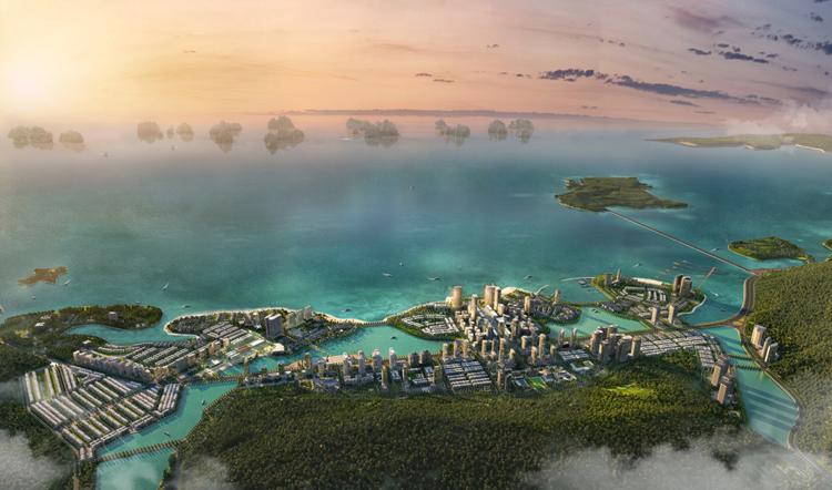 Phối cảnh dự ánkhu đô thị du lịch Hạ Long Marina.