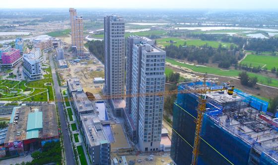 Một góc dự án Cocobay nhìn từ trên cao. Ảnh: Công ty Thành Đô